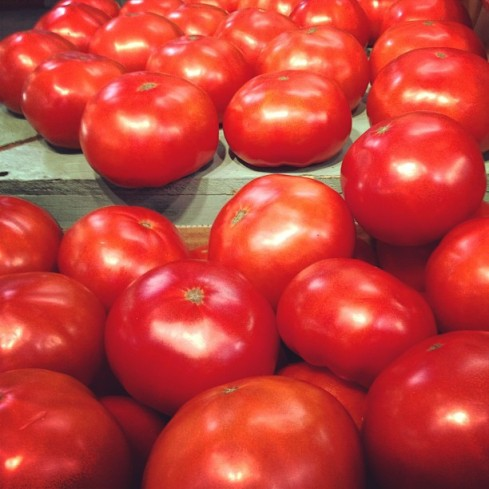 Kauffman's offered these beautiful hot house tomatoes grown in Lancaster County, PA