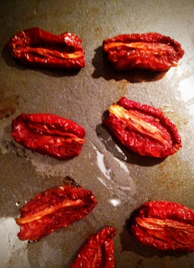Tomato Sunshine, oven-dried in September