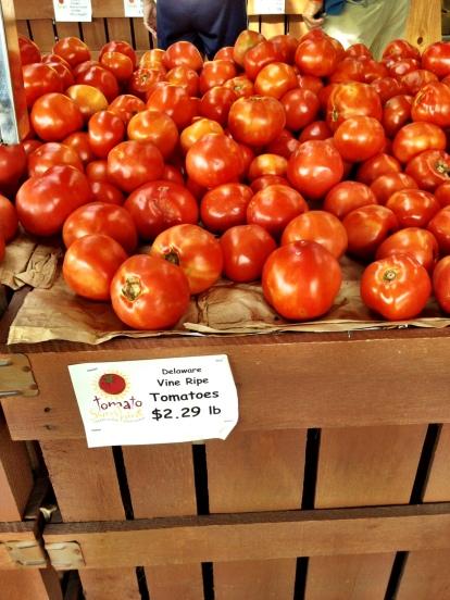 Summer tomatoes from Rehobeth Beach, DE