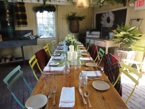 Dining in a shed never looked so rustically elegant
