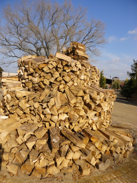 Even their wood piles are artfully displayed