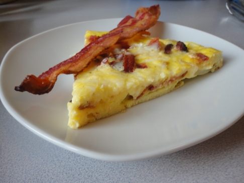 Bacon Frittata with a Side of Bacon.