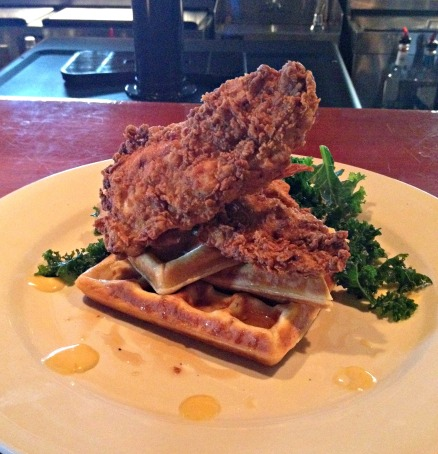 Fried Chicken and Waffles - so, so good