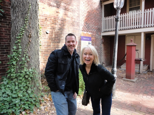 My mom and brother are delighted to visit Elfreth's Alley