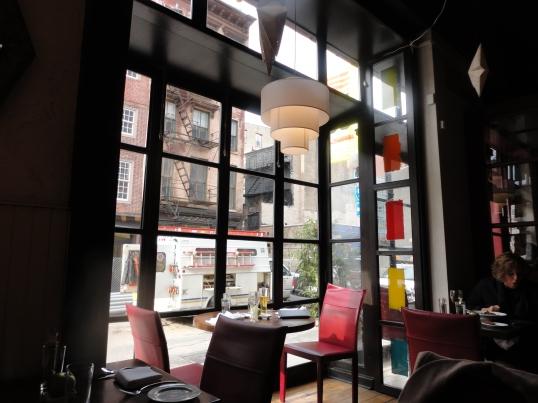 Cozy, yet lively window spot