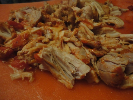 Chicken, shredded, tender and flavorful