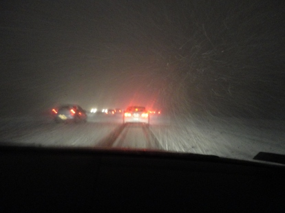 Blizzard on the way home
