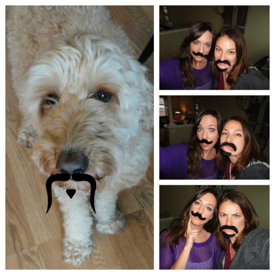 Mustache collage, thanks to a mustache gift from Misty