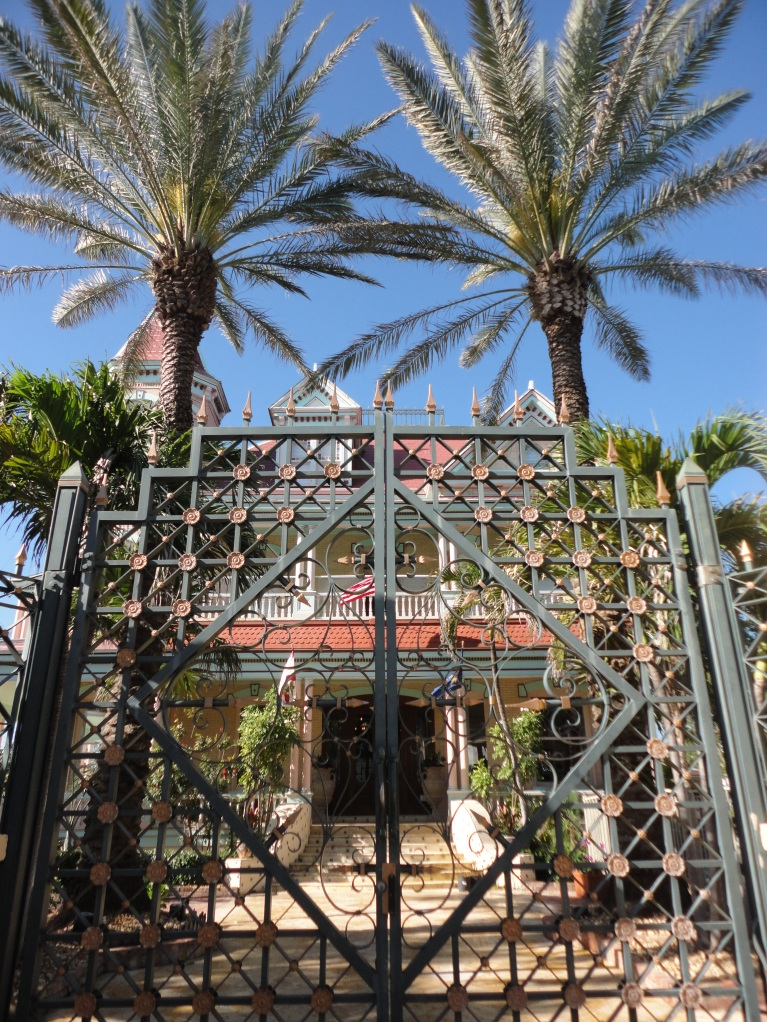 The gates to the Southernmost House