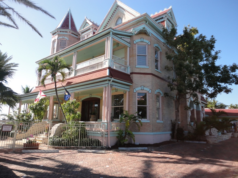 This is the Southernmost House, right across the street from the Southernmost Cafe
