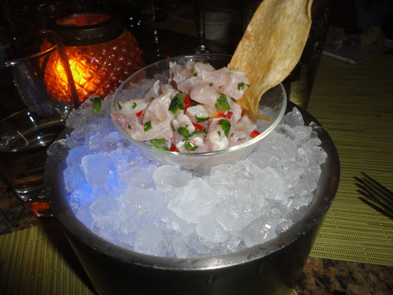 Mahi Mahi Ceviche - refreshing with just the right amount of spice