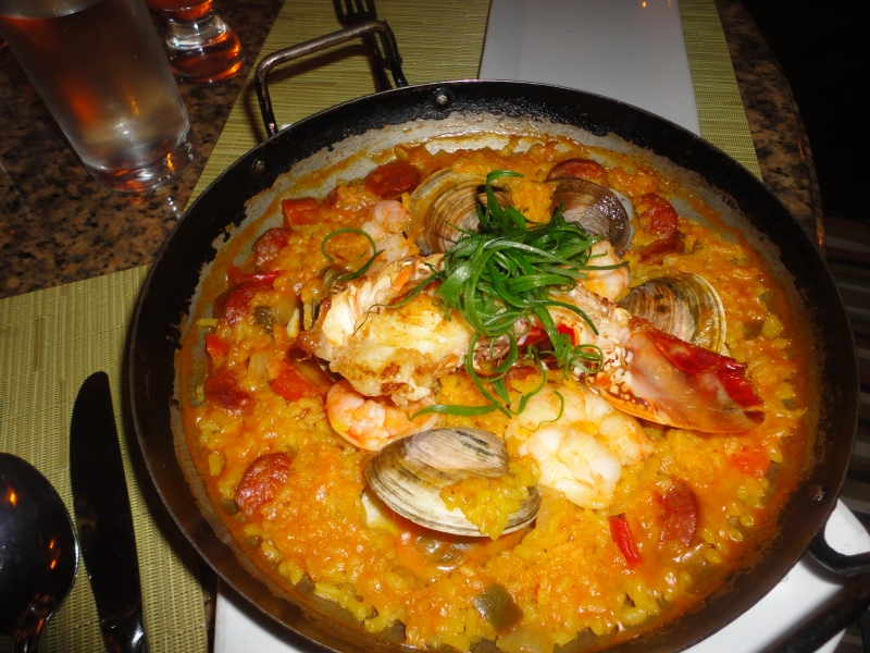 This wasn't the BEST paella I've ever had, but the seafood was wonderful, and the flavors were bright and spicy