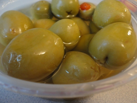 These olives may not be local but I did buy them at the local Amish cheese shop