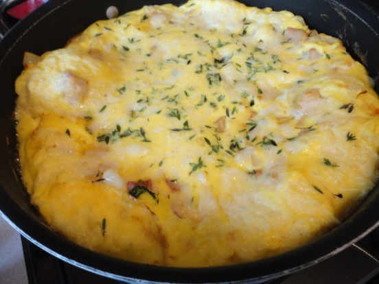 Amish Ham and White Cheddar Frittata