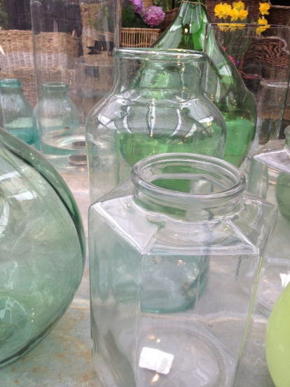 Glass ready for flowers or terrariums