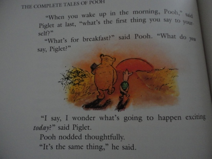 Pooh and Piglet walking happily into the sunset