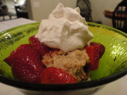 Not-too-sweet Strawberry Shortcake