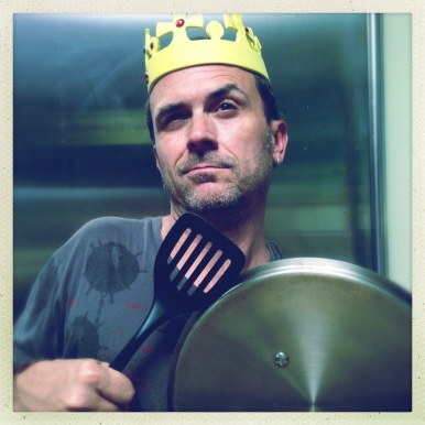 Introducing Sean, King of the Food Snobs (photo credit goes to Sean's son, Flynn, Prince of the Food Snobs)