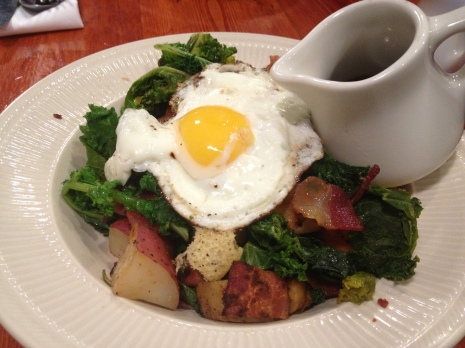 Did I mention the Kale and Potato Hash comes with a SIDE OF MAPLE SYRUP?