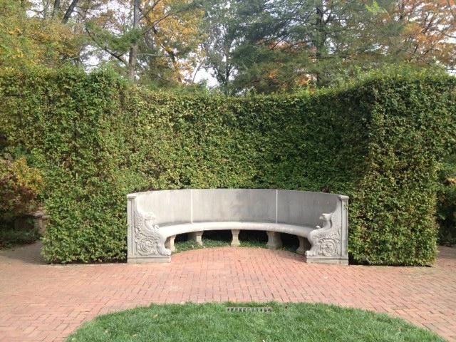 Longwood concrete bench
