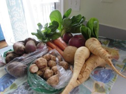 Jerusalem artichokes are the bomb digz - find some and roast them or saute them with mushrooms