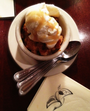 Iron HIll Maple Bacon Bread Pudding